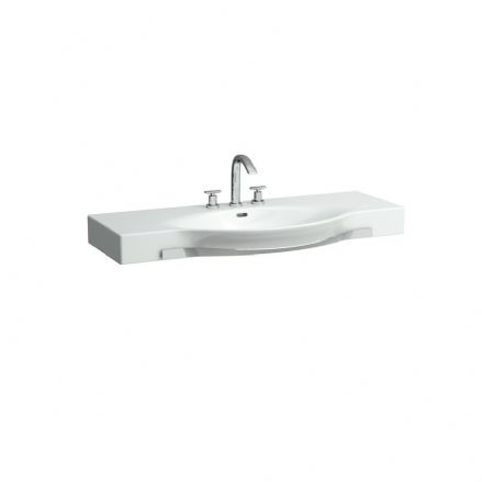 812704 - Laufen Palace 1200mm x 510mm Washbasin With Towel Rail - 8.1270.4